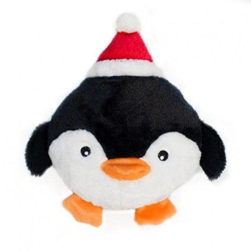 ZippyPaws Holiday Brainey Penguin Dog Toy